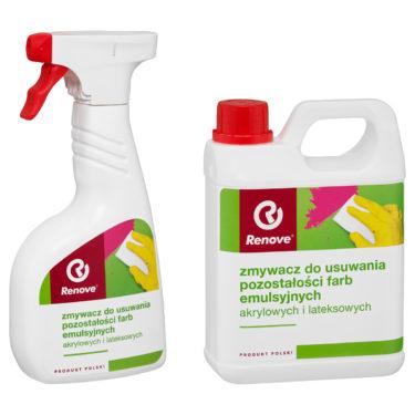 Zmywacz do usuwania pozostałości farb emulsyjnych akrylowych i lateksowych Renove